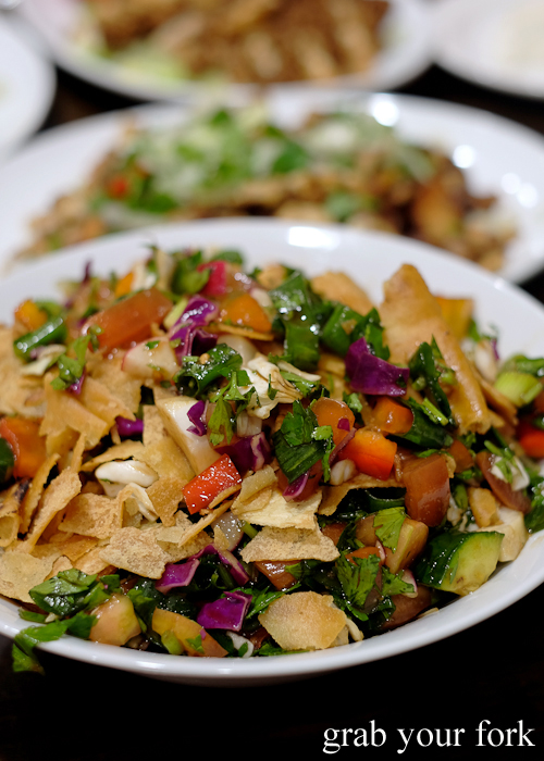 Fattouch salad at Jasmin1 Lebanese restaurant in Bankstown