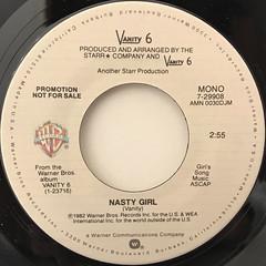 VANITY 6:NASTY GIRL(LABEL SIDE-A)