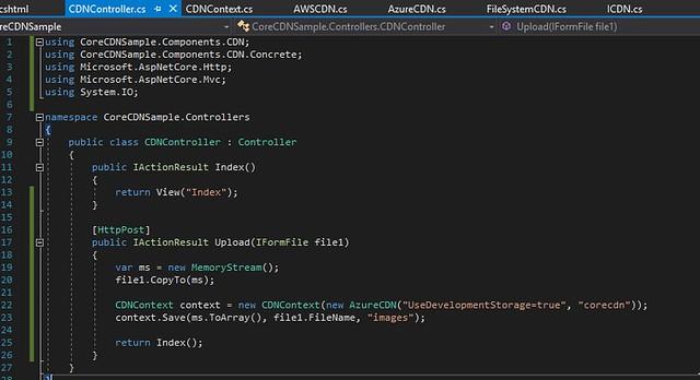 2017-11-12 23_23_33-CoreCDNSample - Microsoft Visual Studio