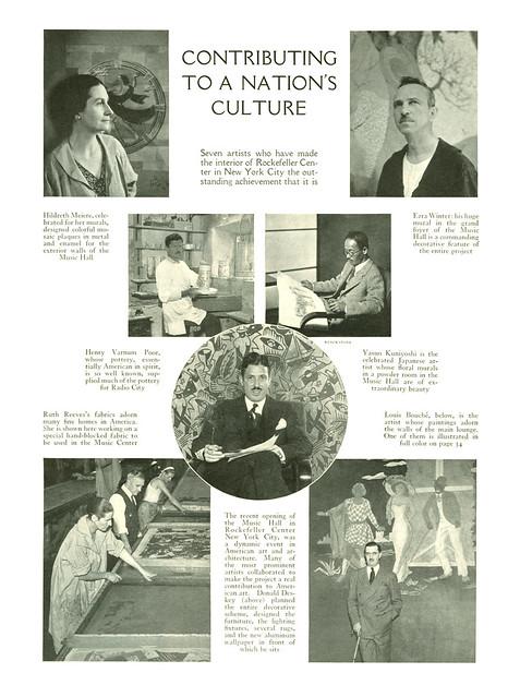 The Art Scene at Rockefeller Center, 1933