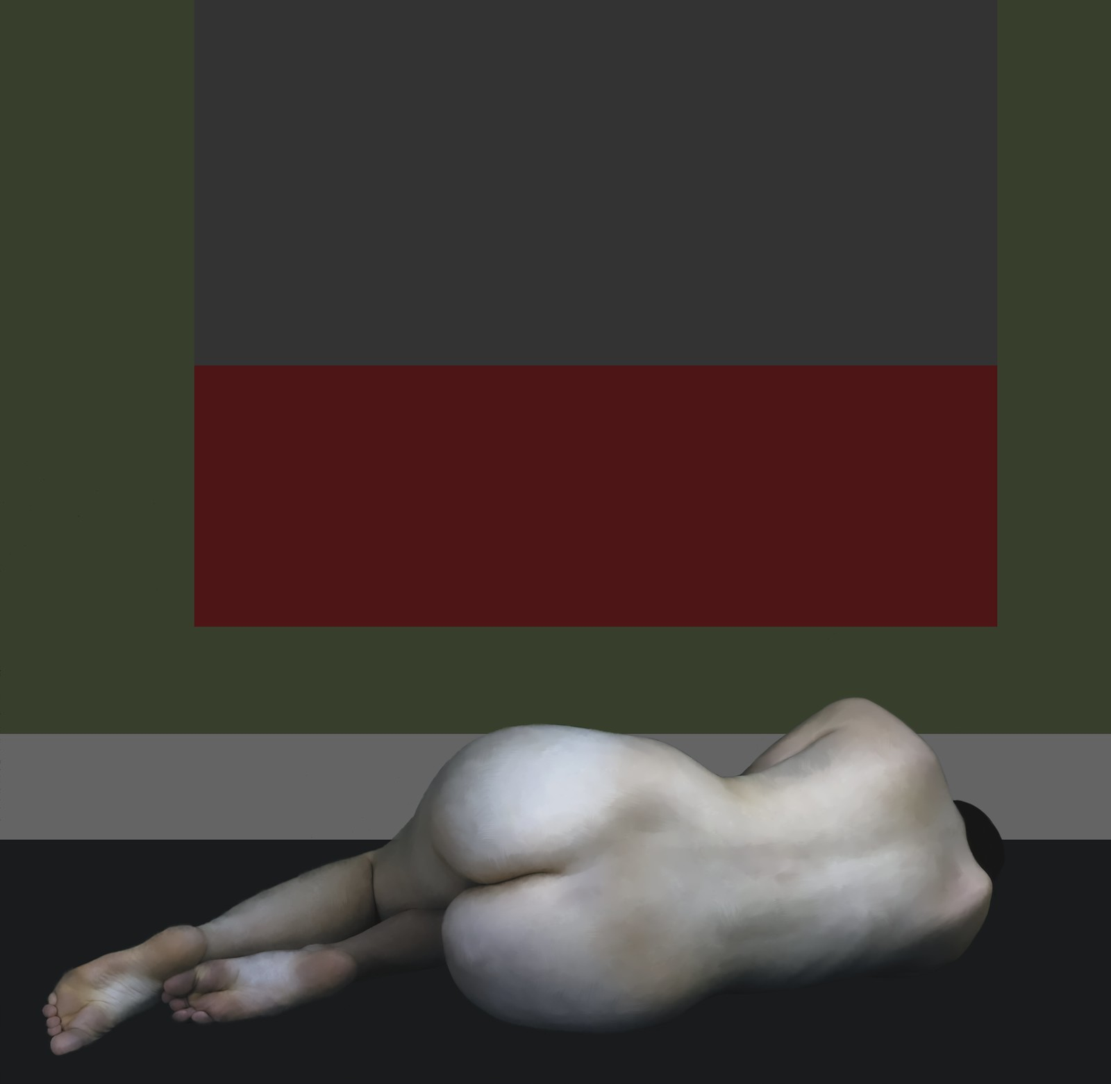 Female form with Red and Gray, 2017