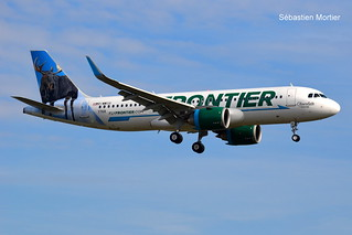 320.251-NEO FRONTIER AIRLINES F-WWIU 7768 TO N312FR CHOCOLATE THE MOOSE 03 11 17 TLS
