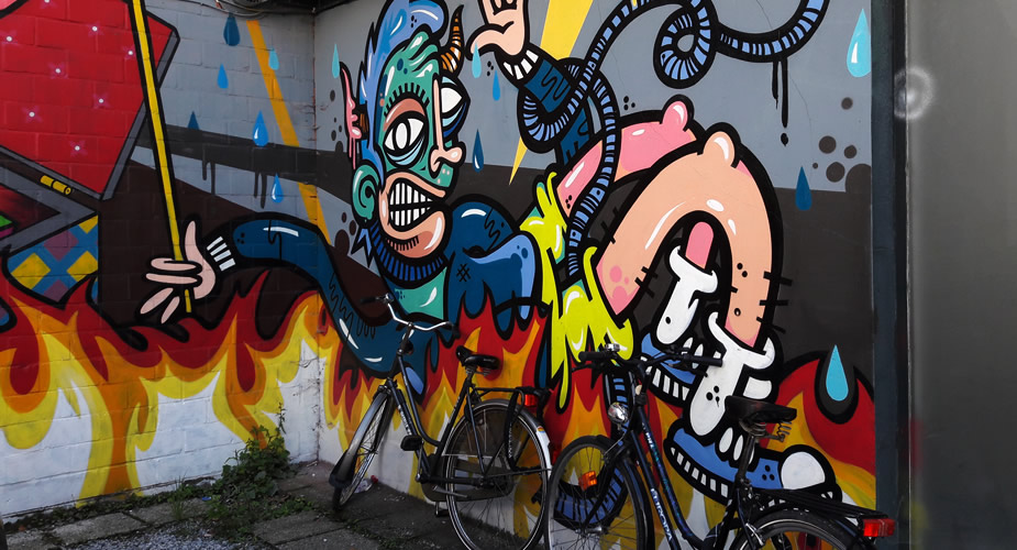 Street art in Antwerpen: Sint Andries | Mooistestedentrips.nl