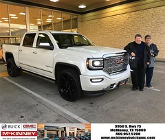 Happy Anniversary to Donna on your #GMC #Sierra 1500 from Austin Bell at McKinney Buick GMC!
