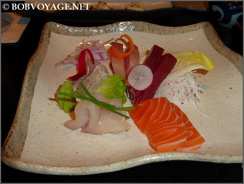 סשימי 5 סוגים  ב- שיראטויה  (shiratoya)
