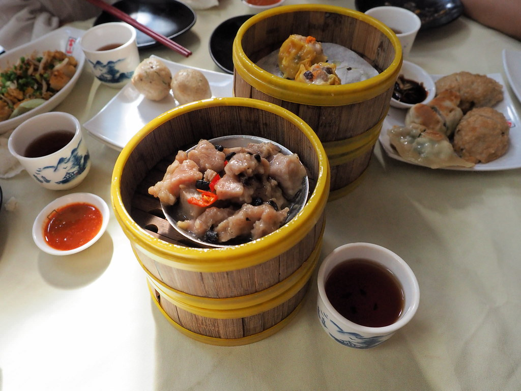 Overview of our order of dim sum at Foh San Dim Sum Restaurant, Ipoh