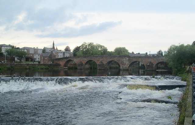 Weir and Old Bridge, Dumfries