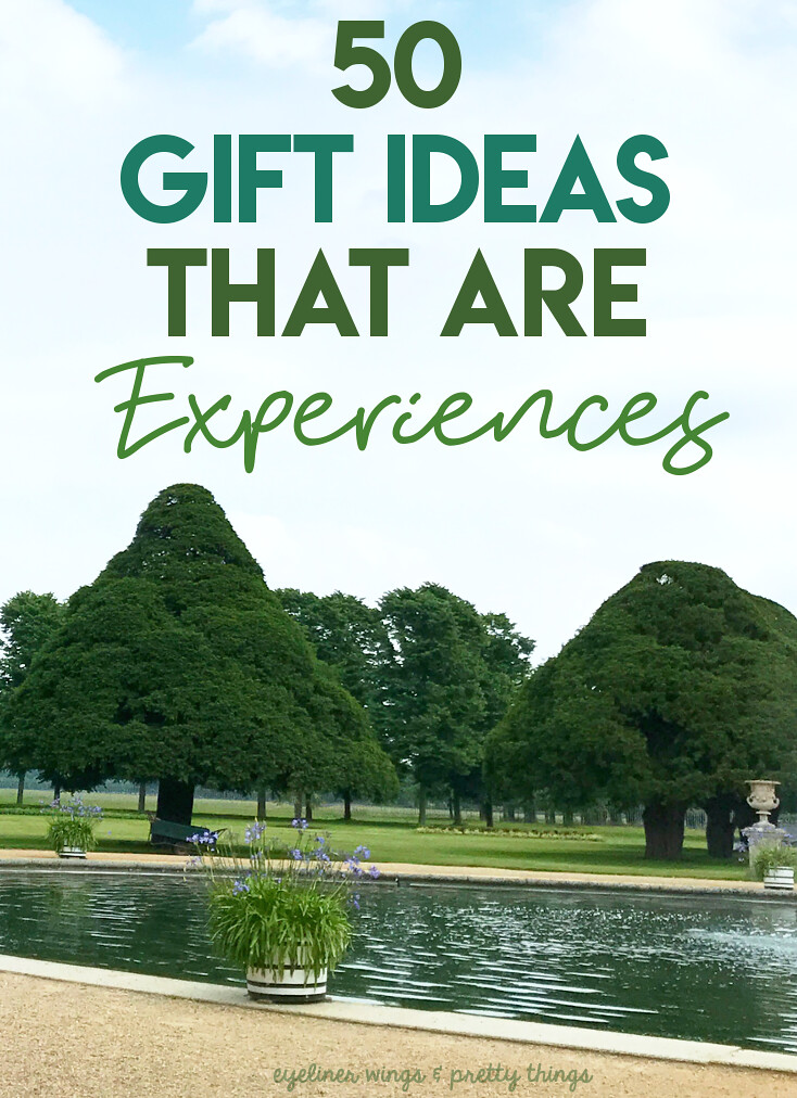 50 Ideas for Gifts that are Experiences - Experience Gift Ideas