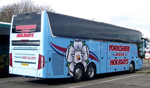 YJ62 JYS 'Yorkshire Rose Holidays' Van Hool Astron TX16 /2 on 'Dennis Basford's railsroadsrunways.blogspot.co.uk'
