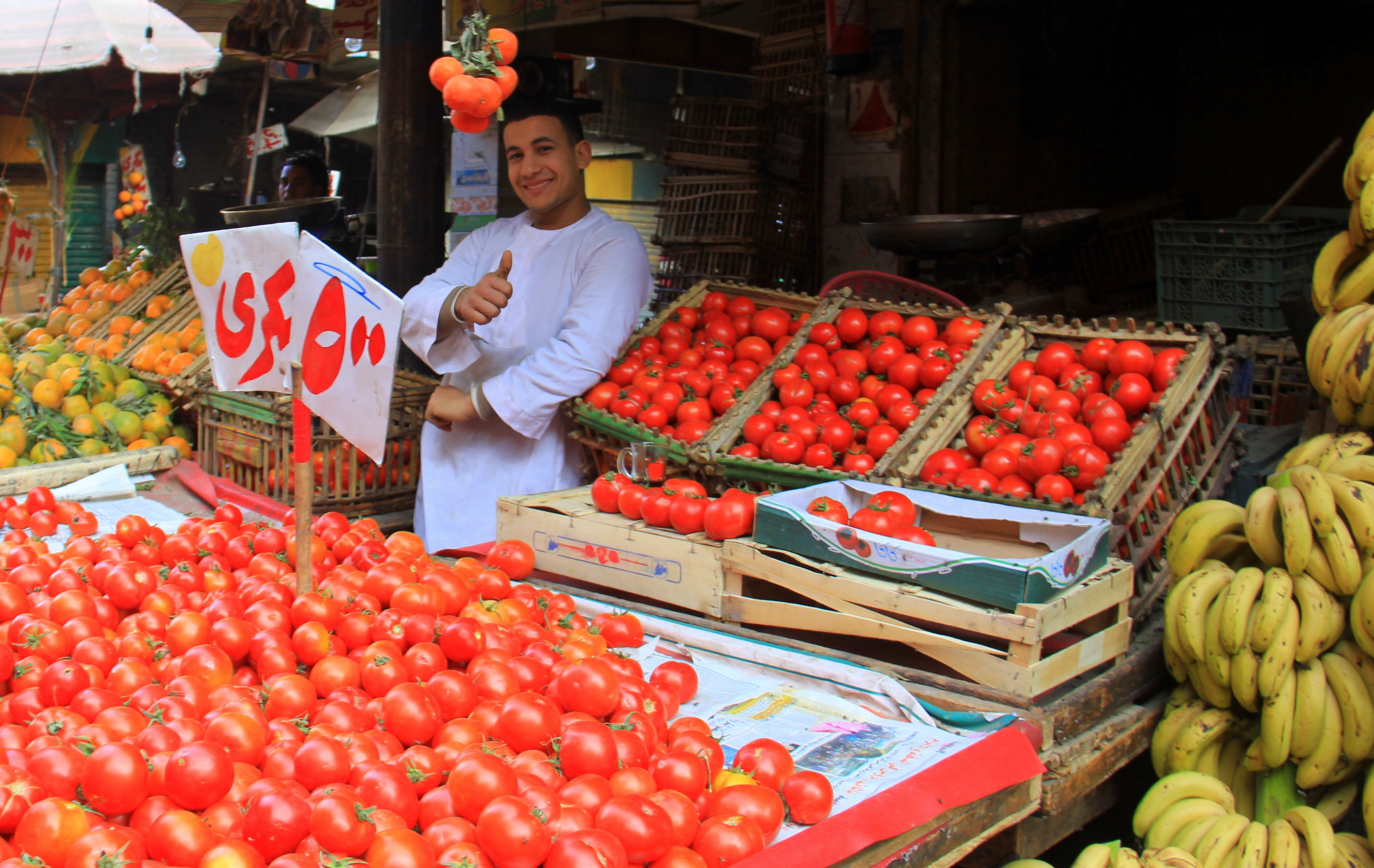 Tomato is heavily used in Egyptian food