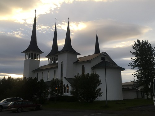 Vassula's witness meeting held at the church at Hateigskirkja.  People refer to this church as the Four Towers, Reykjavik