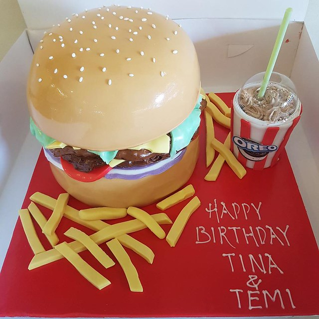 Burger Cake by Go Cake Shop Peckham