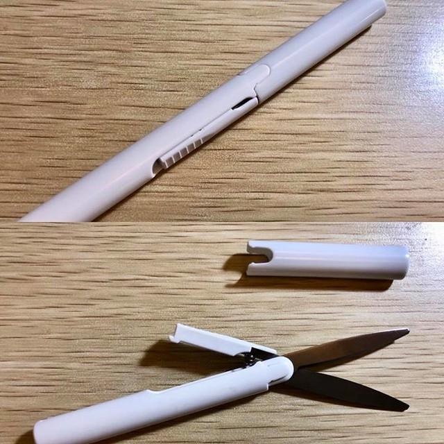 【手帖365】筆型剪刀 文具土包子啊我,我還真的不知道原來有筆型剪刀這東西,收起來就跟一支原子筆一樣大小(其實我覺得更像挖耳棒),就隨身攜帶便利性來說,可以很方便收納在筆記本或是鉛筆盒,比瑞士刀、傳統剪刀或美工刀都來得更安全輕巧!謝謝阿冰冰幫我購回。 對了,你一定會問我什麼時候用得到對不對?到便利商店取包裹時,只要帶著它就可以輕鬆地拆開紙盒外的膠帶,不需再跟便利商店店員商借美工刀⋯⋯(啊我說出乃了) #生活手帖365 #沒有朋友怎麼辦 →看其他生活手帖365:http://ift.tt/2ymD4F2