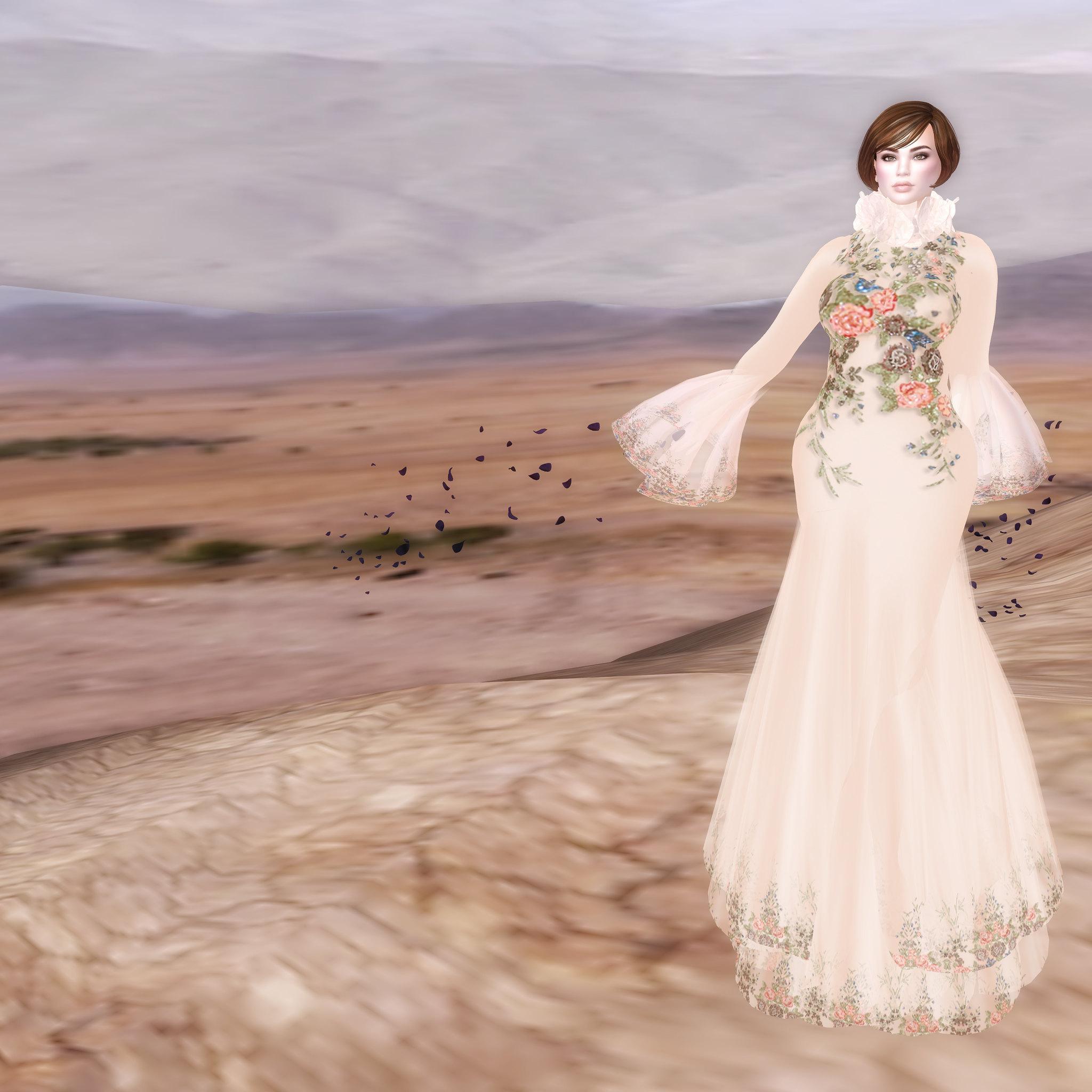 Varvara gown, apricot, Sascha's Designs