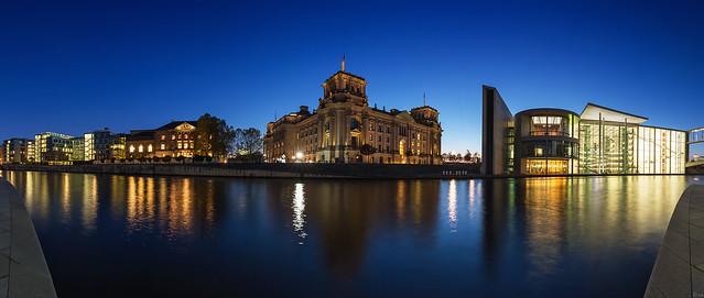 Berlin Regierungsviertel - Panorama