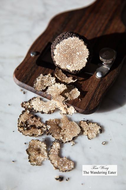 Burgundy black truffle shavings