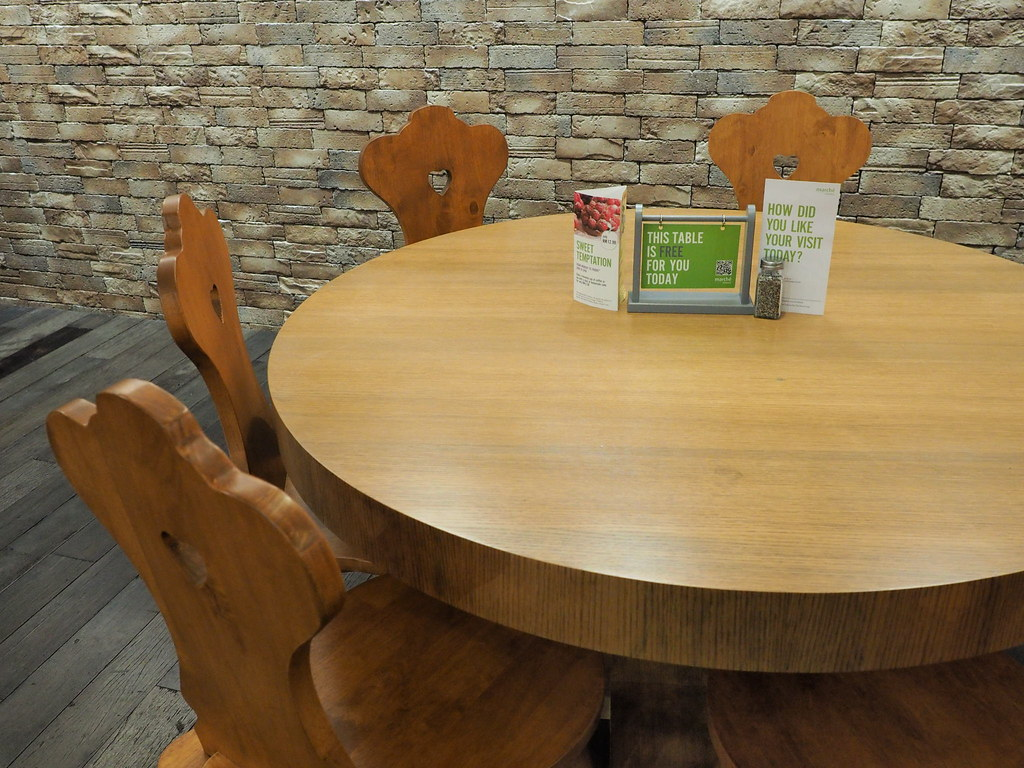 Nice wooden dining table and chairs