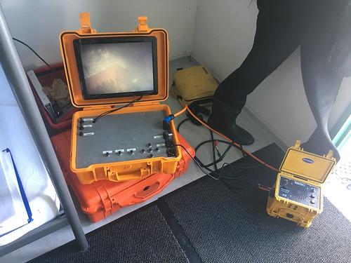 Onderwater video inspectie van een aanzuigleiding
