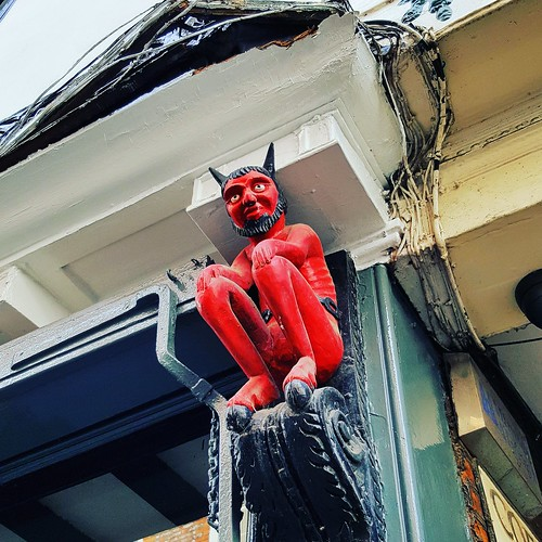 An image of the Stonegate Devil, a staple of York folklore