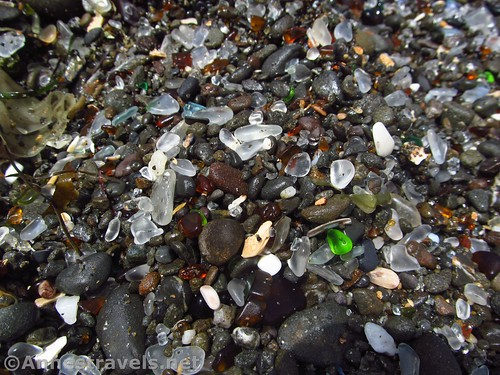 Sea glass and pebbles at Glass Beach, California