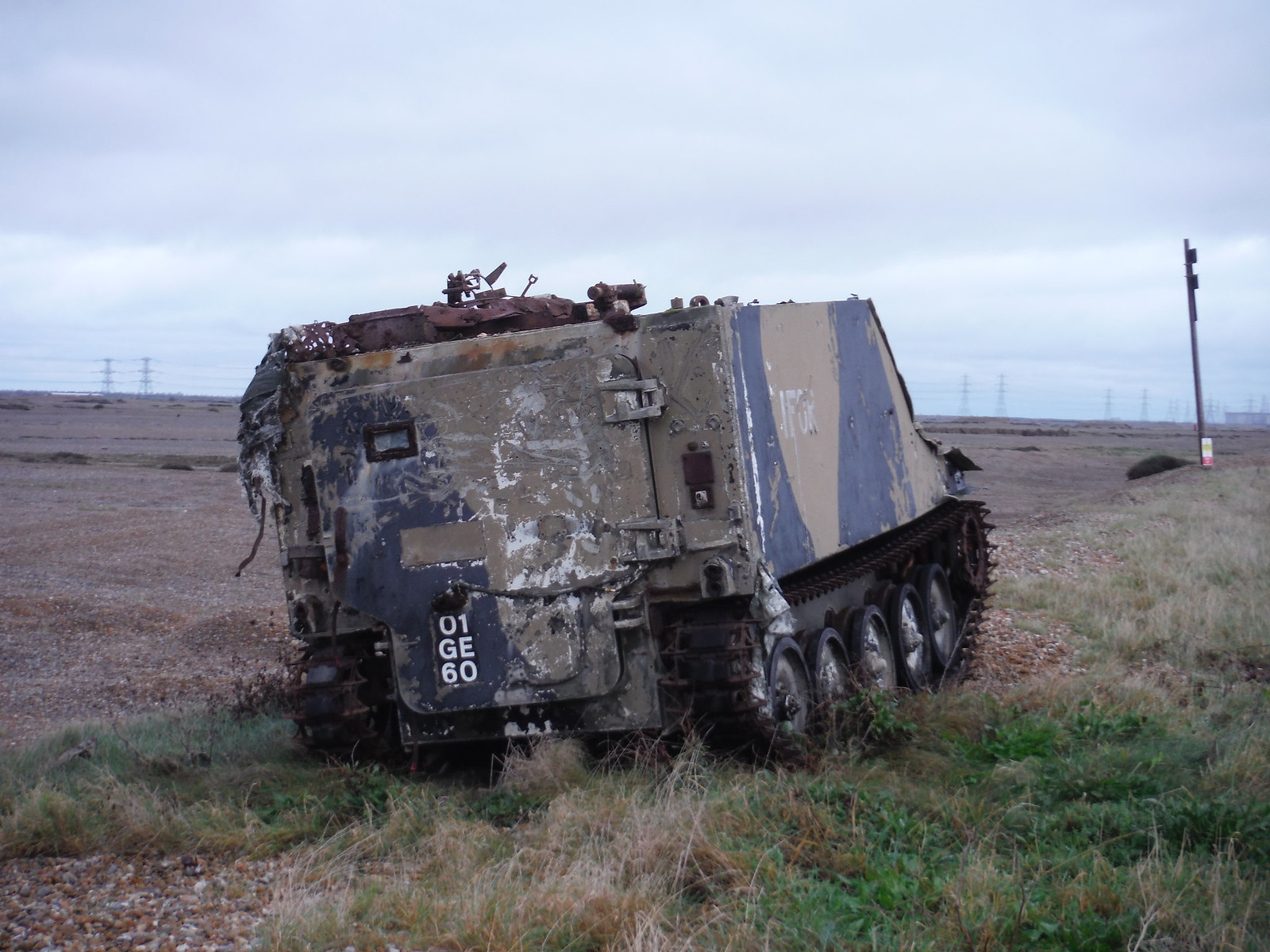 Target Tank, Lydd Ranges SWC 154 - Rye to Dungeness and Lydd-on-Sea or Lydd or Circular