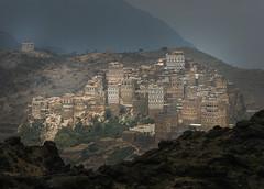 Yemen: maisons-tours dans le djebel Haraz.