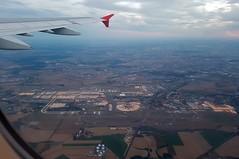 Flughafen Paris CDG nach dem Start und U-Turn