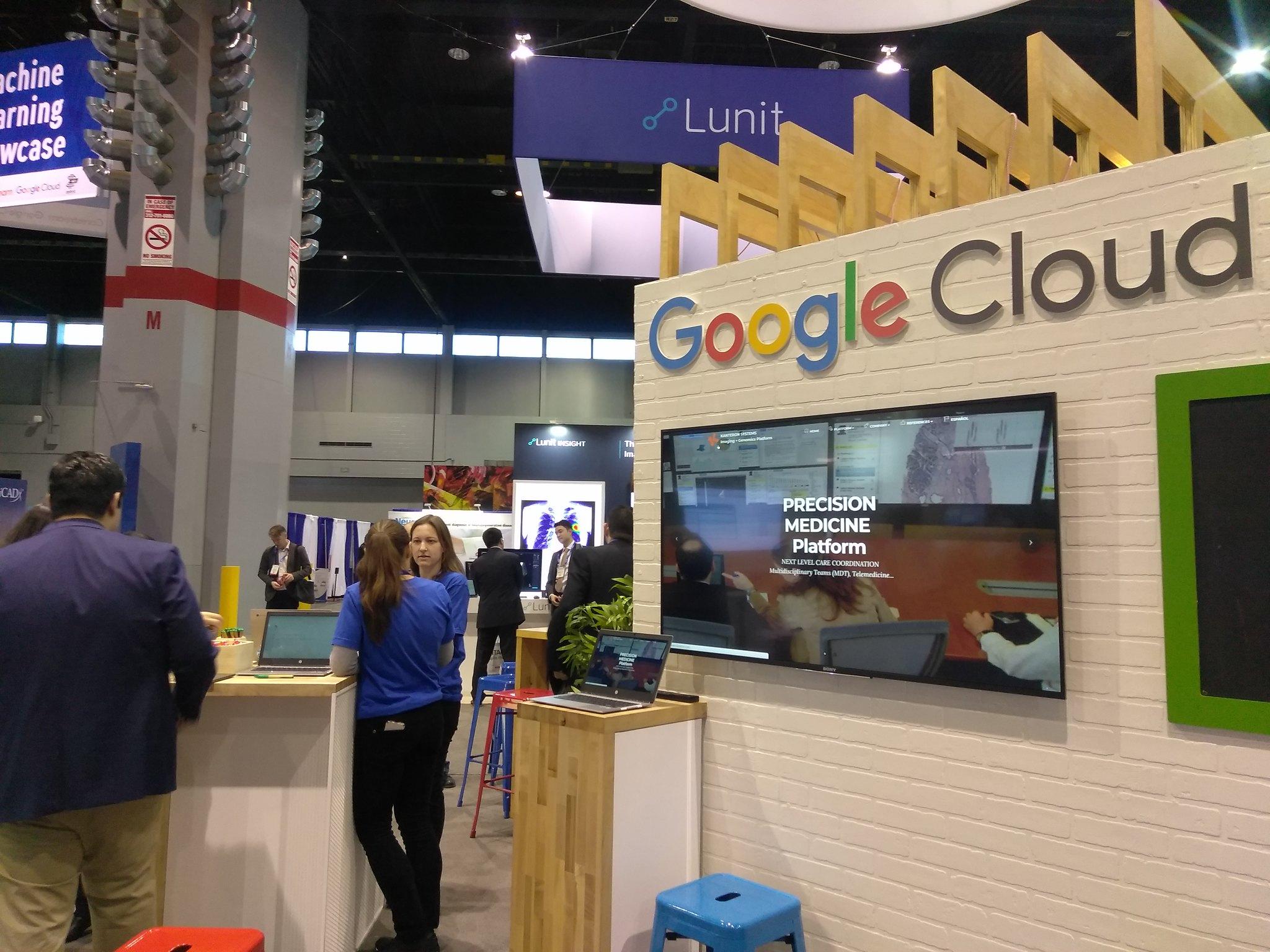 RSNA 2017 Google-Kanteron booth