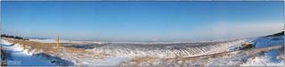 Winterliches Panorama vom Braunkohlentagebau Welzow-Süd