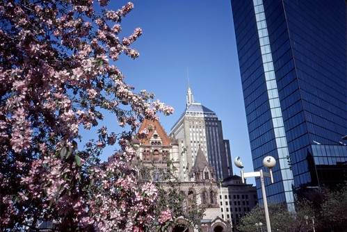 Copley Square, Boston - Kodachrome