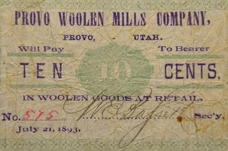 Provo Mills 10 cent note