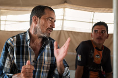 Iraq. A refugee tells me how his family was killed by ISIS. He has already spent months in this camp and may never be able to return home.