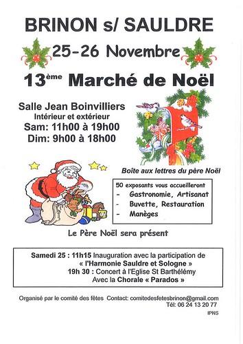 Aux Portes de l'Universel sera au Marché de Noël de Brinon sur Sauldre