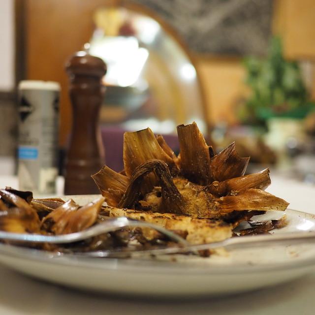 ローマ料理:ユダヤ風カルチョーフィ(アーティチョーク)