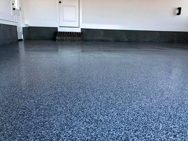 Decorative Concrete Garage- Cape Fear Coatings- Leland, NC