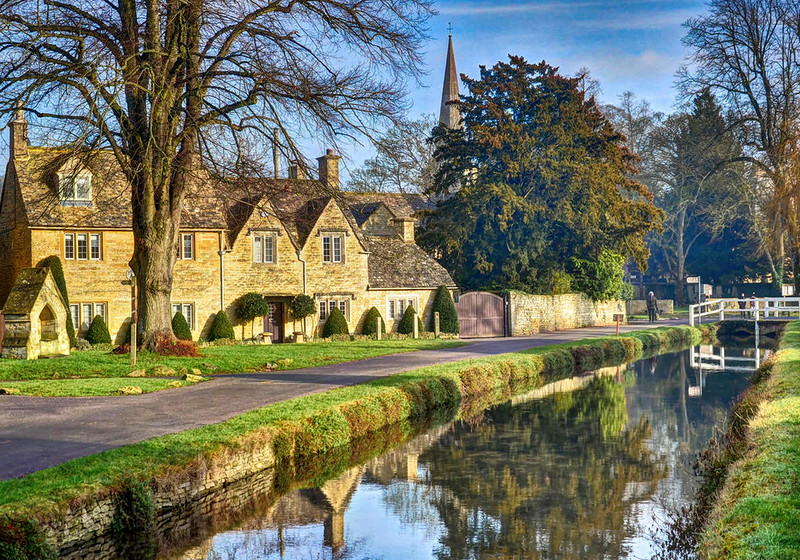 Lower Slaughter, The Cotswolds, Gloucestershire. Credit Baz Richardson, flickr