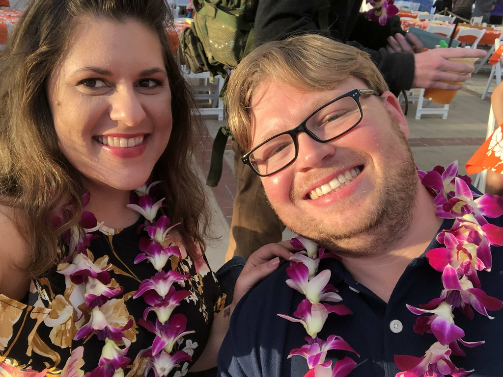 At the Thanksgiving Luau