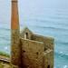 Wheal Coates tin mine engine house, St Agnes, Cornwall, 18th July 1991