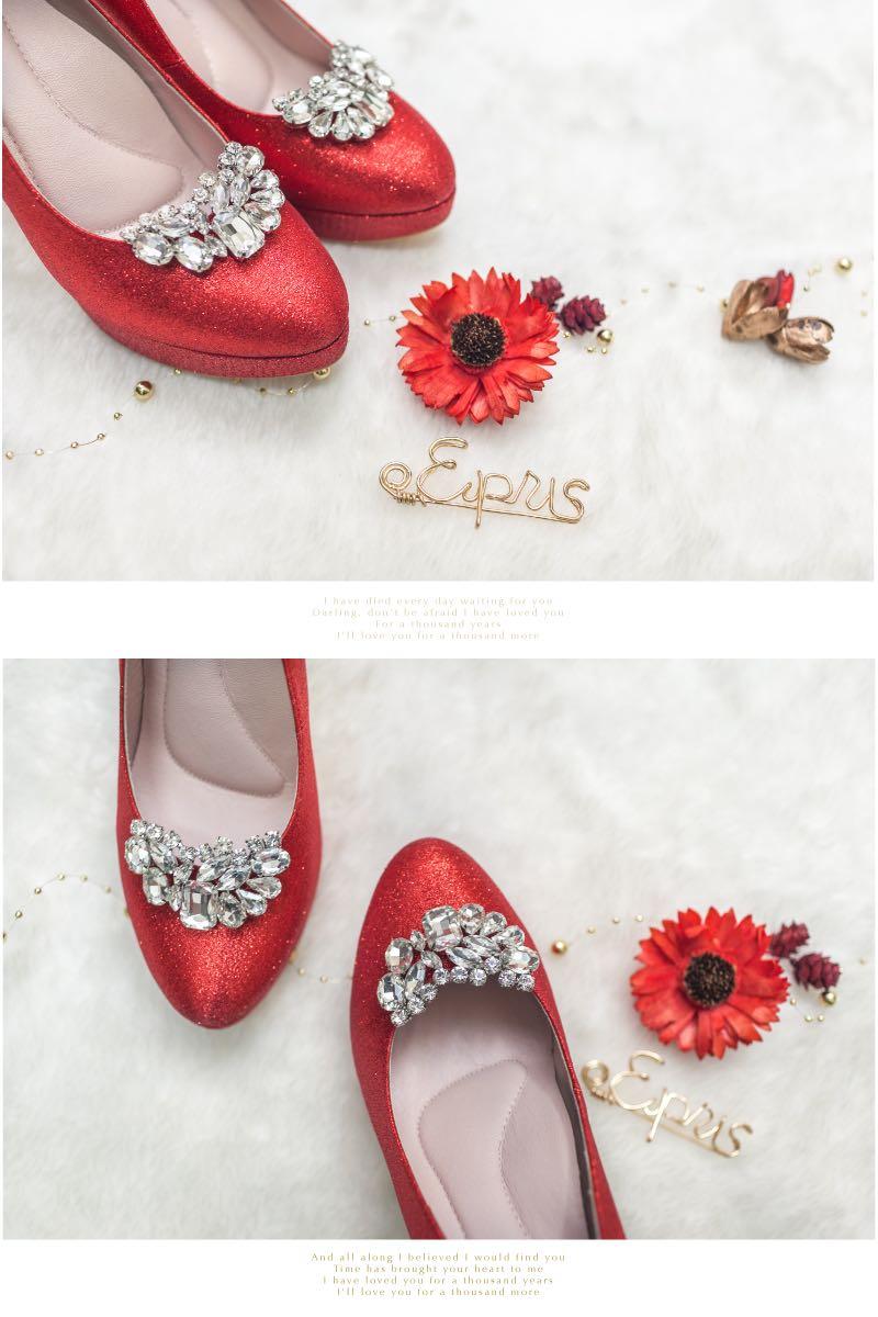 婚鞋新娘鞋伴娘鞋鞋花鞋扣鞋夾飾扣