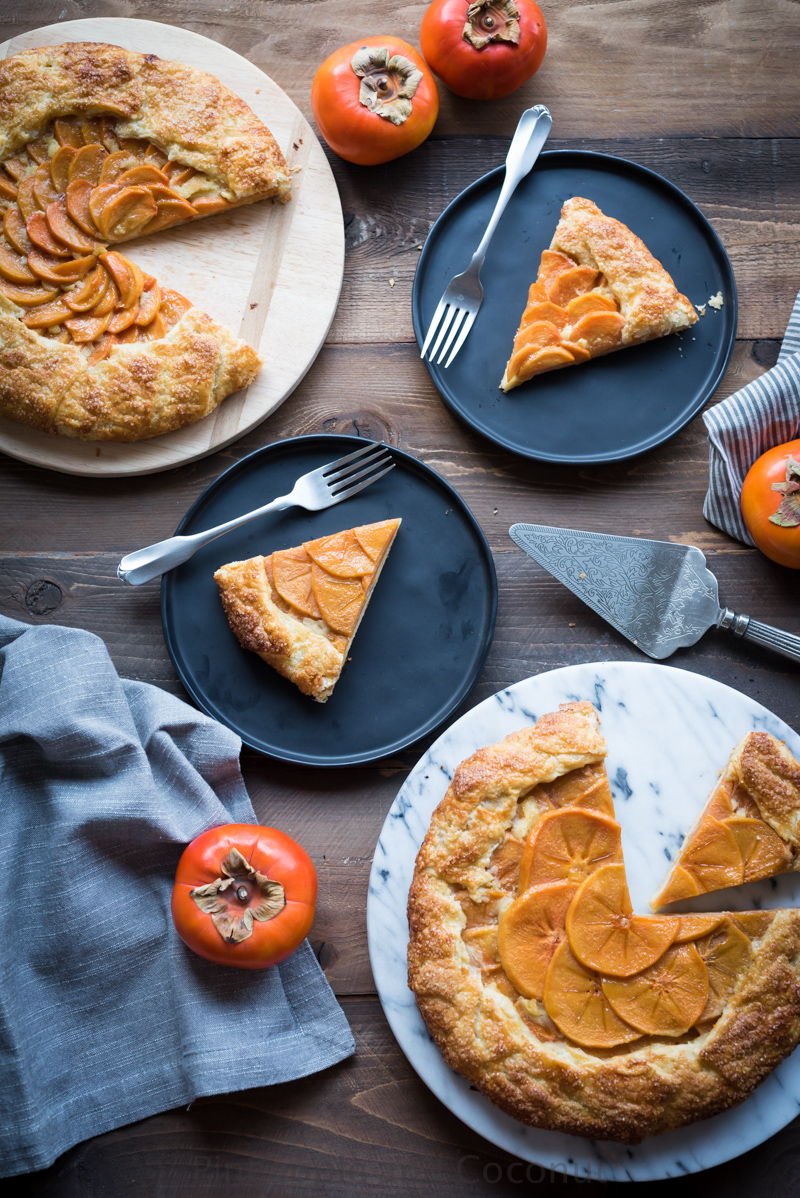 Persimmon Galette with Mango Dark Rum Glaze www.pineappleandcoconut.com