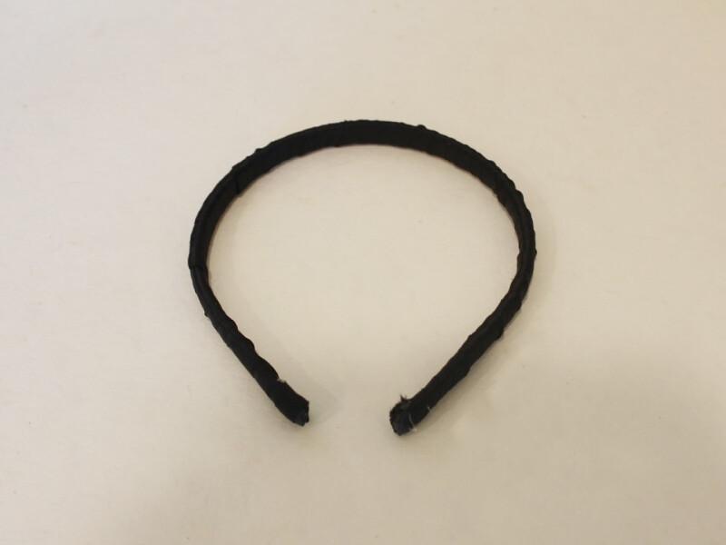 headband with ribbon on