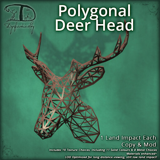 Polygonal Deer Head for FLF / 50L$!