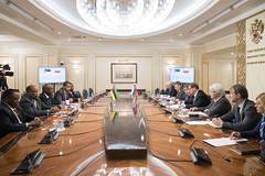 Встреча К. Косачева с председателем Комиссии по плану и бюджету Ассамблеи Республики Мозамбик Энеашем Комише