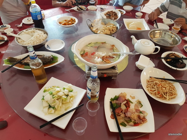 Chinese dishes on the table