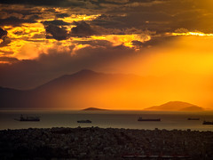 Sunset over Piraeus