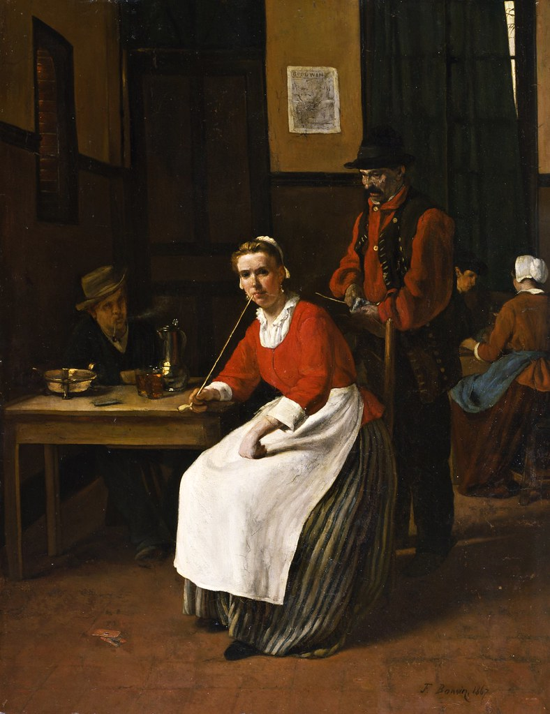 François Bonvin - Interior of a Tavern (1867)
