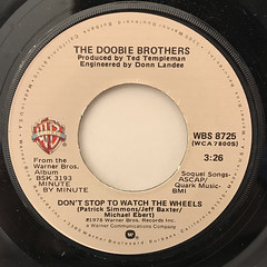 THE DOOBIE BROTHERS:WHAT A FOOL BELIEVES(LABEL SIDE-B)
