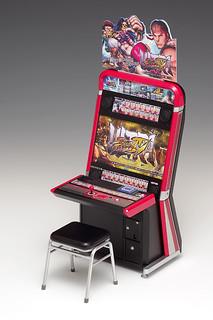 你家的人偶也可以熱血的打街機啦~WAVE 紀念遊戲集合系列《終極快打旋風IV》Vewlix 街機框體 Ultra Street Fighter IV Vewlix筐体 1/12 比例組裝模型