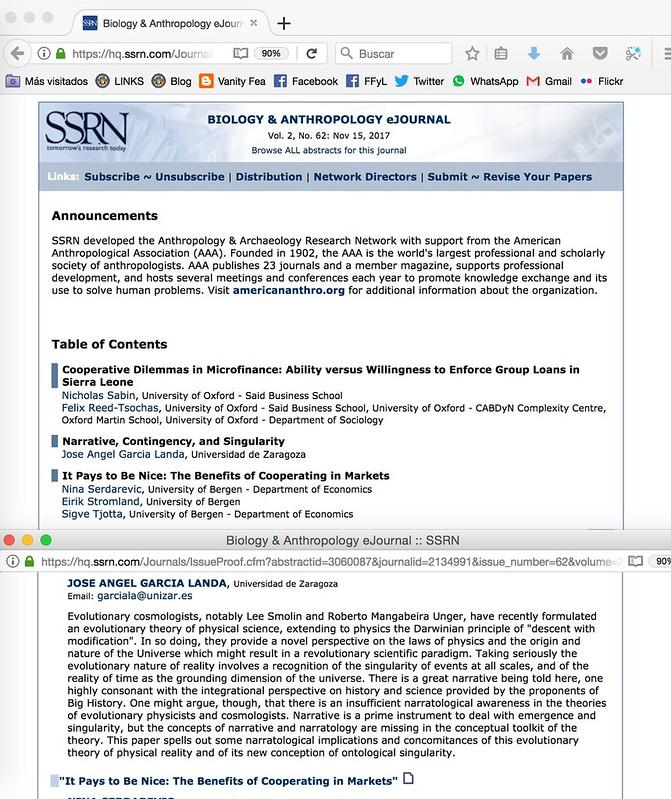 Narrative, Contingency, & Singularity - en el Biology & Anthropology eJournal