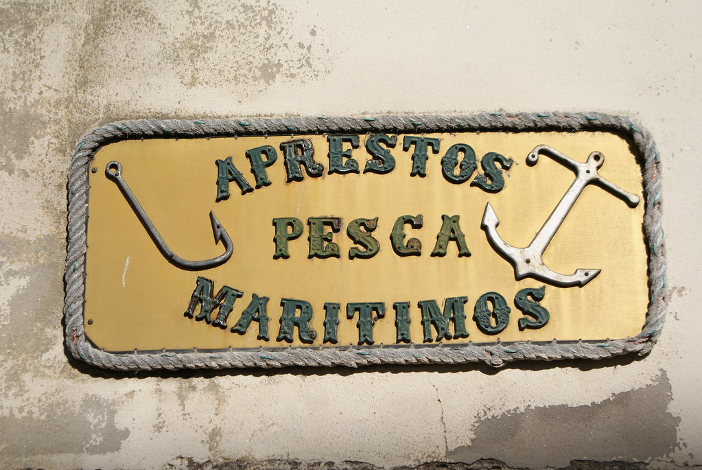 Ancienne enseigne dans le quartier de Massarelos à Porto.